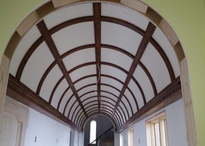 Custom Ceiling in Wood Arch