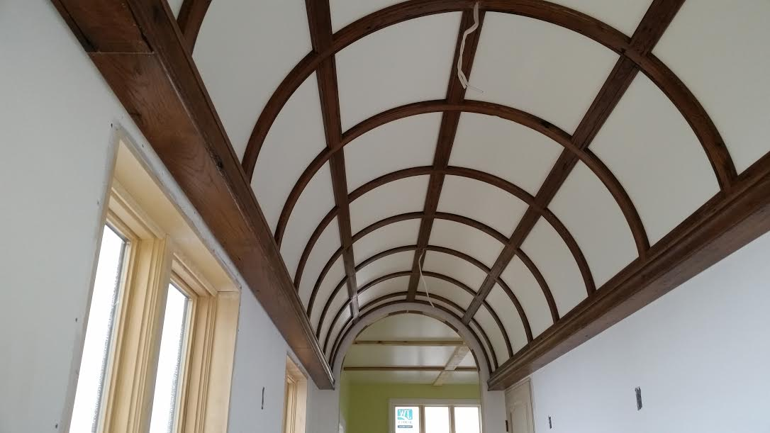 Wood Ceiling Arch Close Up