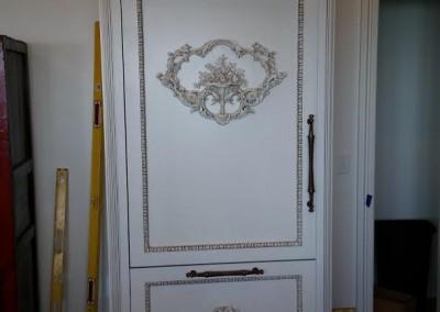 Custom Wood Refrigerator Front