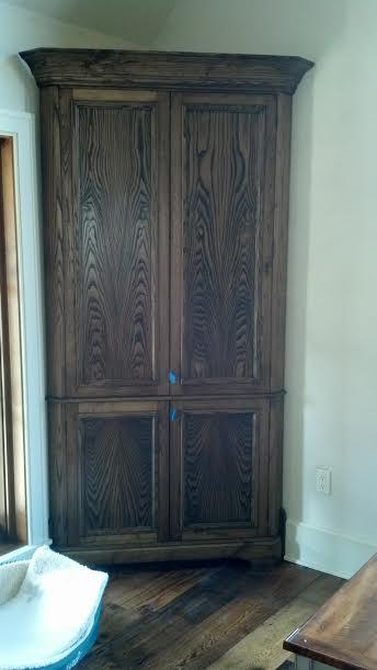 Custom Built Corner Cabinet Finished