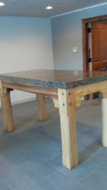 Custom Wood and Stone Table